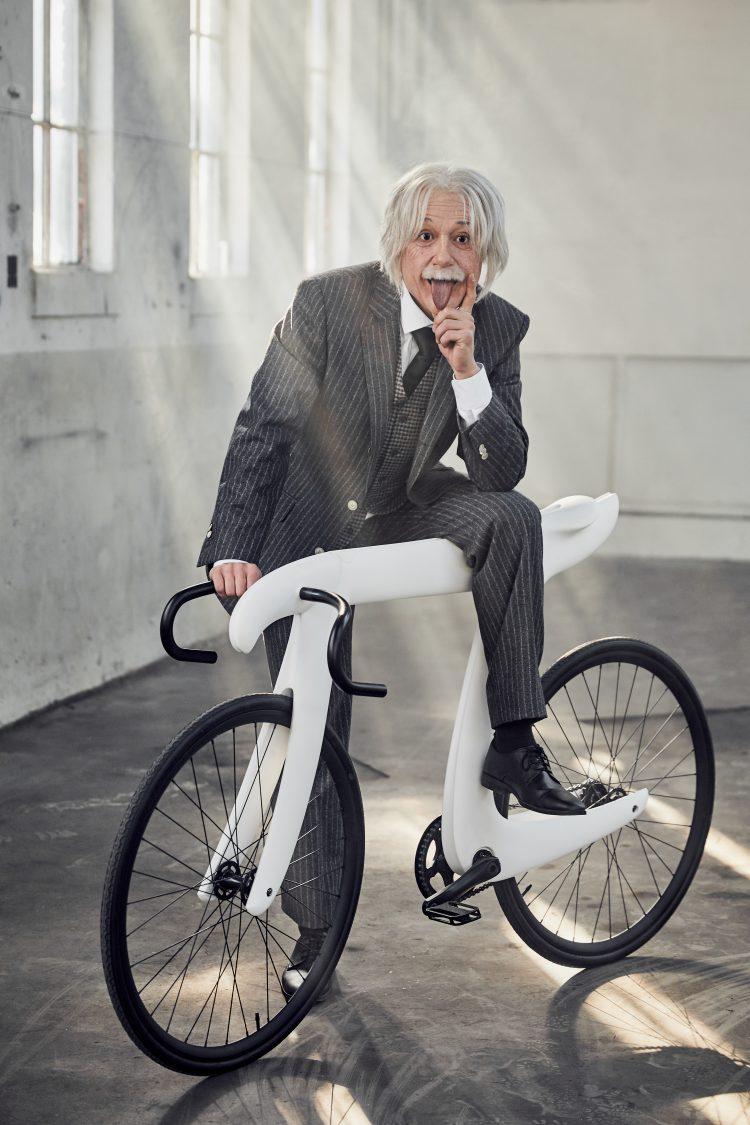 Einstein on Pi Bike