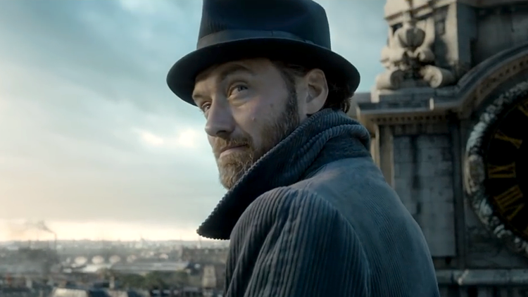 Jude Law Plays a Young Dumbledore in First Trailer for Fantastic Beasts: The Crimes of Grindelwald