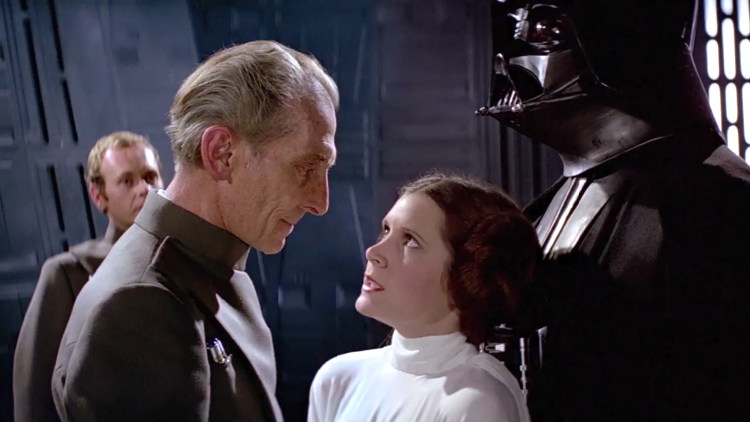 It's Not a Moon, A Bad Lip Reading of Grand Moff Tarkin and Princess Leia Singing on the Death Star