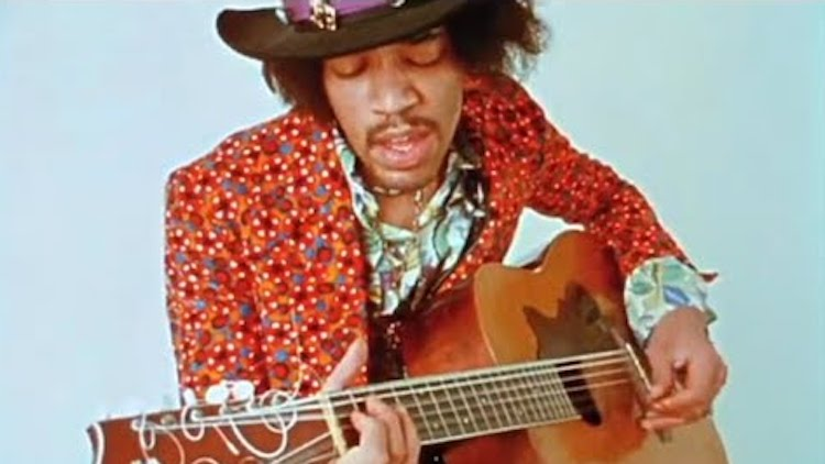 Incredibly Rare Footage of the Legendary Jimi Hendrix Playing an Acoustic Guitar