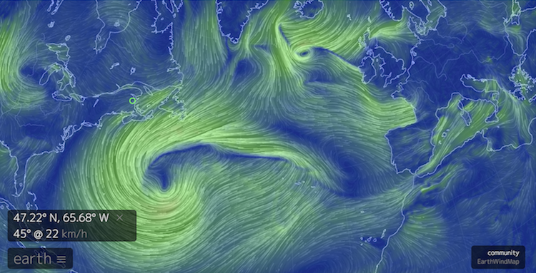 A Mesmerizing Animated Interactive Map Visualizing Global Wind