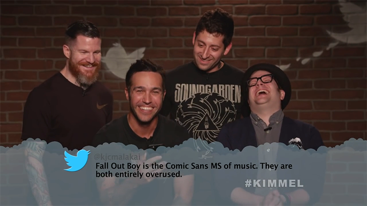 Musicians and Bands Read Mean Tweets About Themselves on Jimmy Kimmel Live