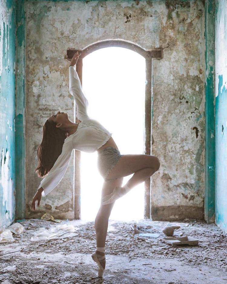 Ballet Dancers Pose Gracefully Amidst the Beauty and the Rubble of Post Hurricane Puerto Rico