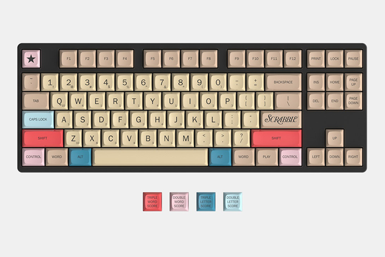 Scrabble Mechanical Keyboard and Keycap Set