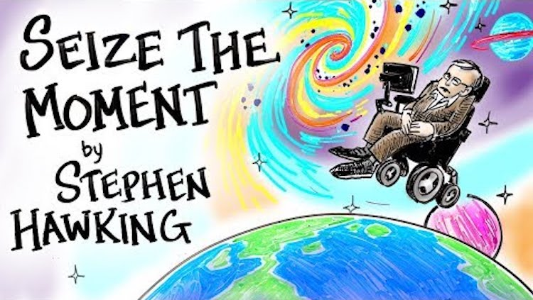 A Beautiful Whiteboard Animation of an Inspiring Stephen Hawking Speech In Tribute to His Memory