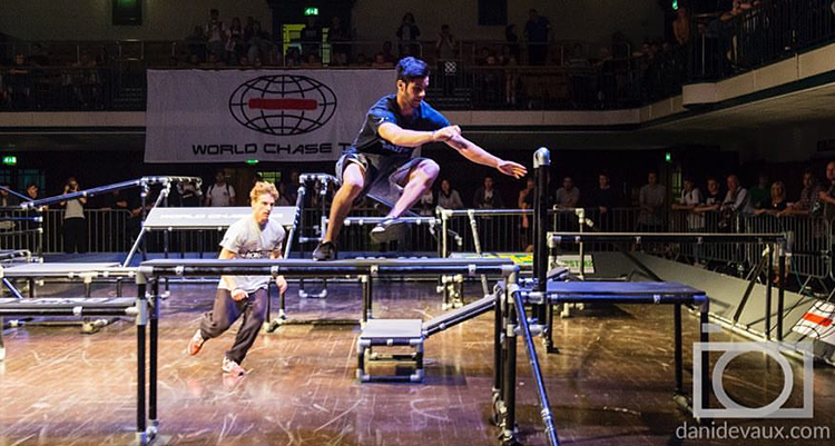 World Chase Tag, A Competitive Sport Combining Parkour, Obstacles, and the Childhood Game of Tag