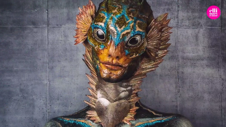 A Beautiful Makeup Tutorial Showing How to Become The Shape of Water Amphibian Man
