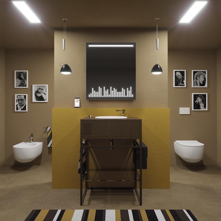 Vinyl Olympic LED Mirror