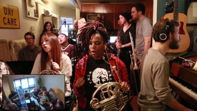 The Apartment Sessions Plays a Beautiful Cover of Arcade Fire's 'Wake Up' With Help From Neighbors