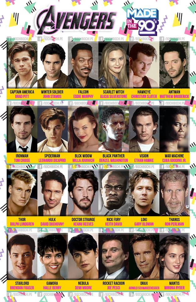 Imagining What Actors Might Have Been Cast in The Avengers Movies If They Were Made in the 1990s
