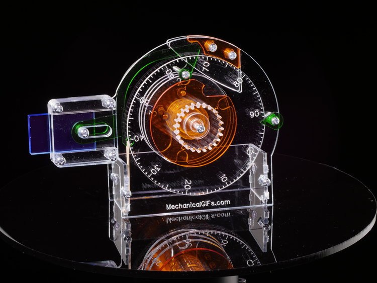An Acrylic See-Through Combination Lock Showing How the Inner Workings Actually Function