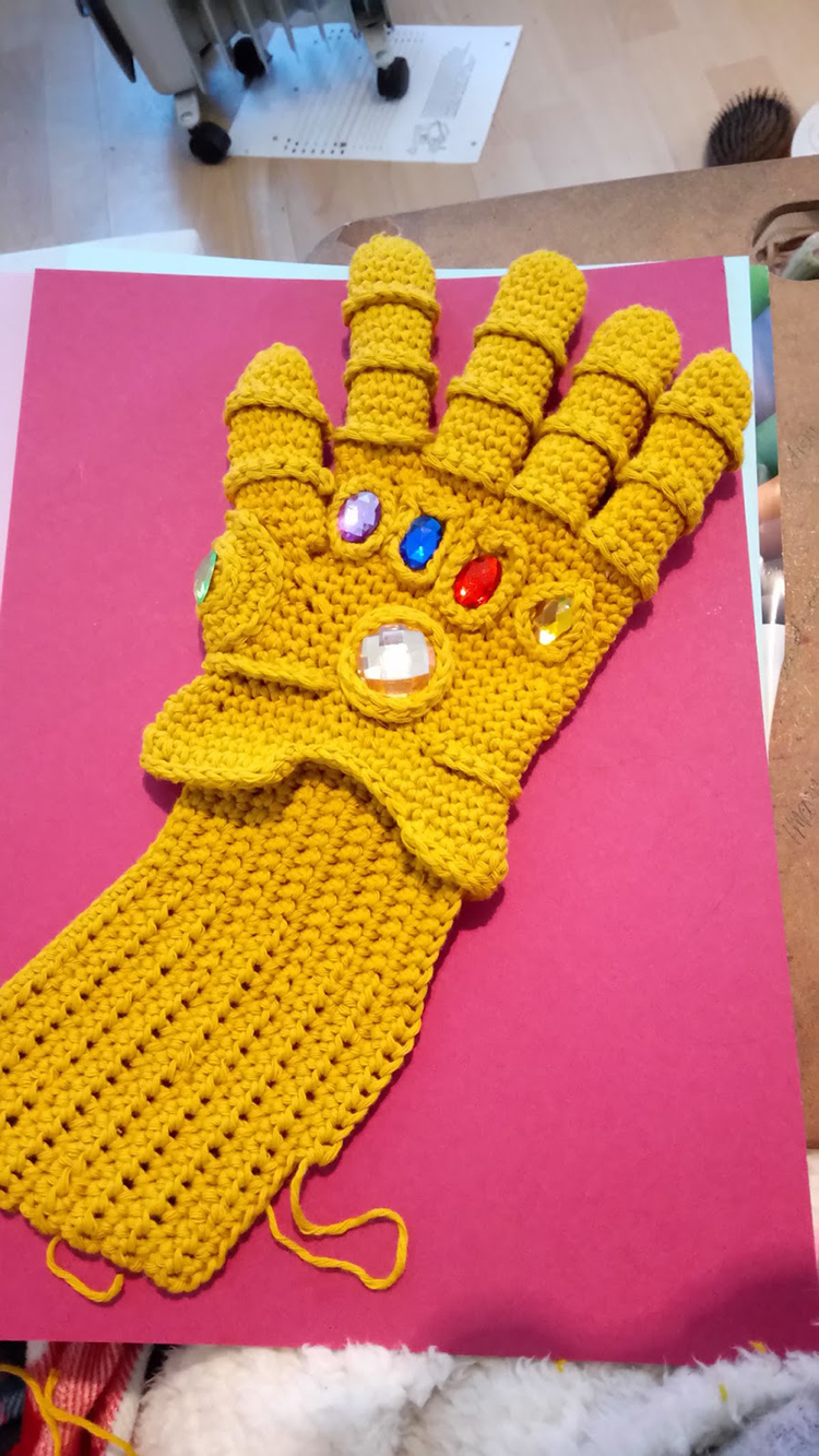 A Crocheted Infinity Gauntlet for Ruling the Universe