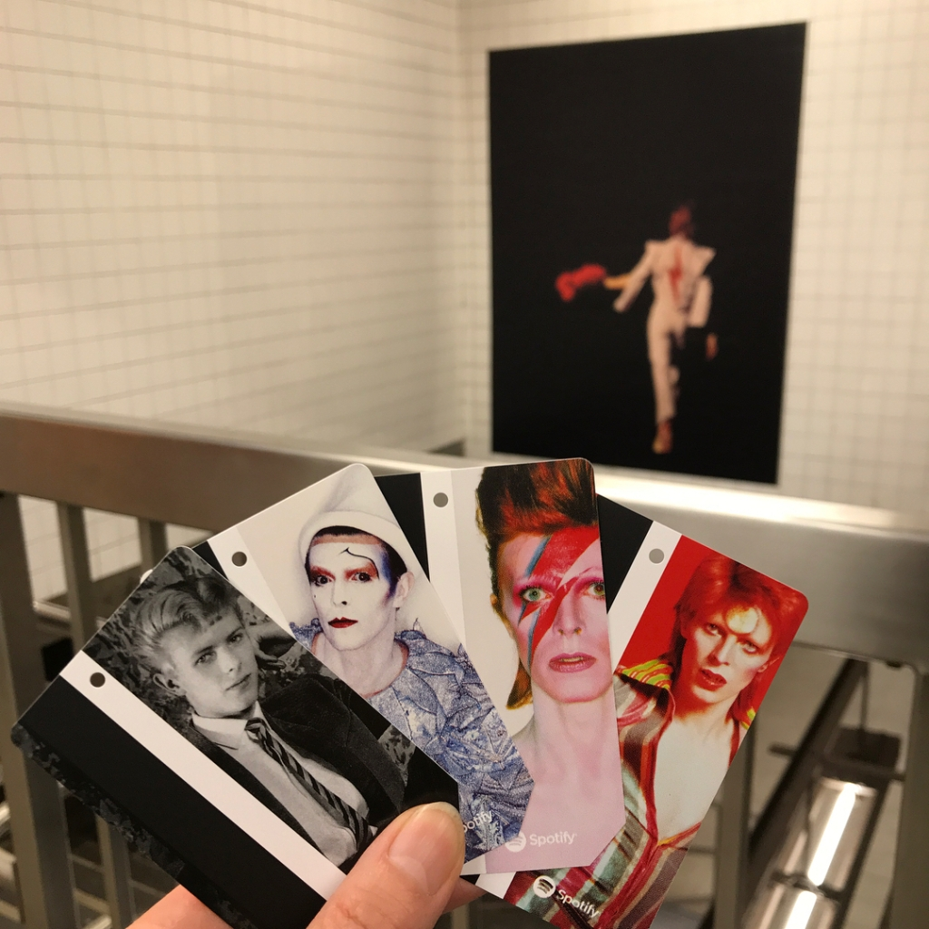 Immersive Takeover of David Bowie's NYC Subway Stop With MetroCards Featuring His Iconic Personas