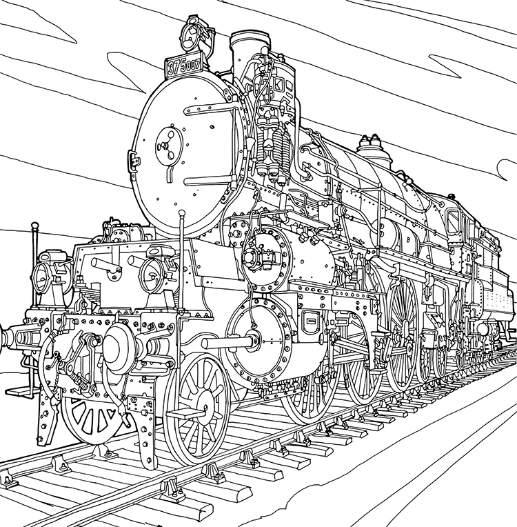 fantastic machines  a coloring book filled with fun images