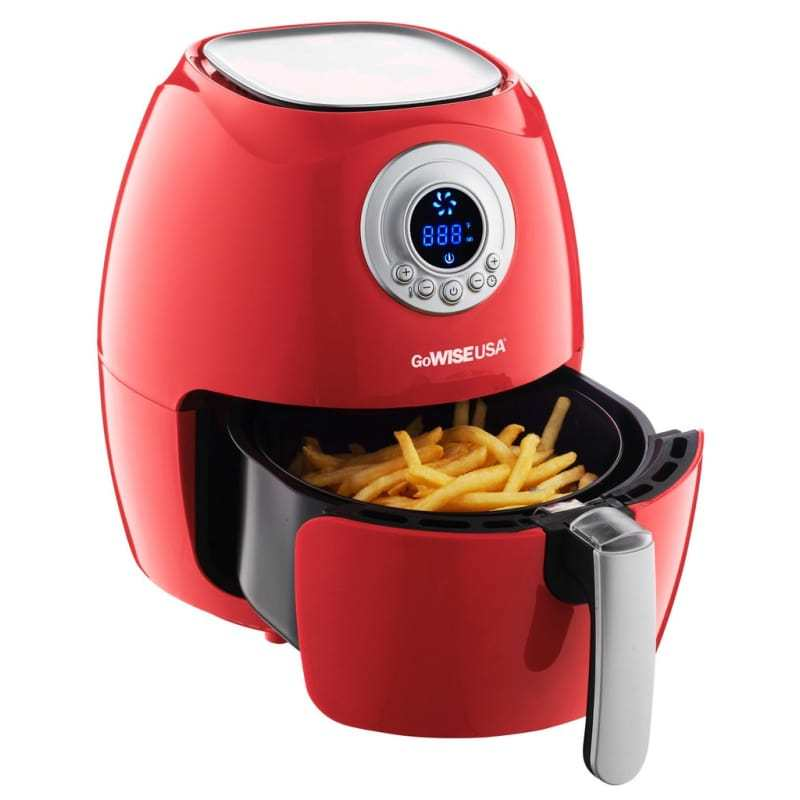 A Handy Digital Air Fryer That Prepares Traditionally Fried Food Without the Worries of Cooking With Oil