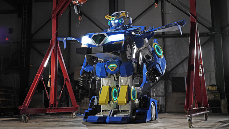 A Real Life Transformer That Can Transform From a Humanoid Robot Into a Functioning Car