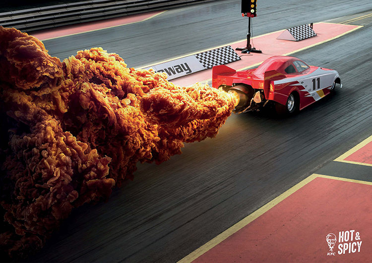 Clever KFC Hong Kong Ad Campaign Uses Hot and Spicy Fried Chicken To Replicate Fiery Explosions