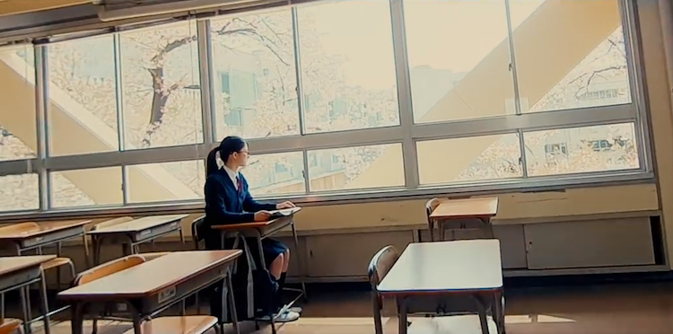A Micro Drone Captures the Sparse Beauty of a Japanese School in a Single Long Take