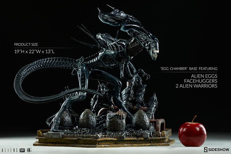 Monstrous 19-Inch Tall Alien Queen Maquette Statue