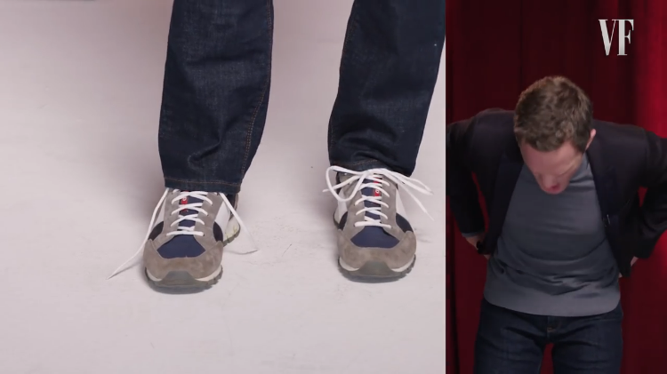 Neil Patrick Harris Tying Shoes