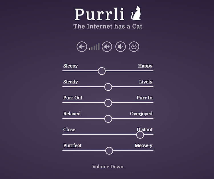 Purlli, An Interactive Sound Generator Providing the Soothing Comfort of a Purring Cat Wherever Needed