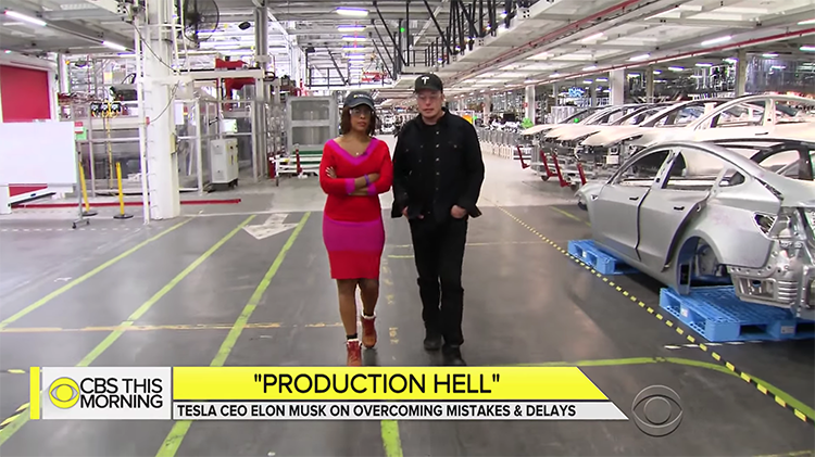 8a75c31430992 Elon Musk Gives Gives CBS This Morning a Behind the Scenes Tour of the Tesla  Factory