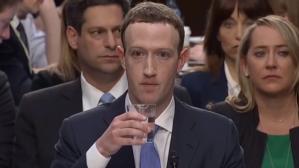 Zuckerberg Drinking Water