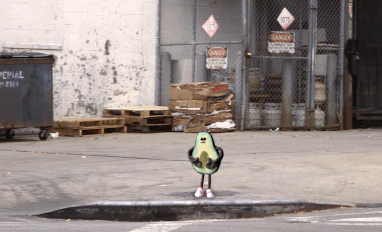 A Forlorn Little Avocado Half Searches For Its Mate and Their Pit Through the Streets of New York City