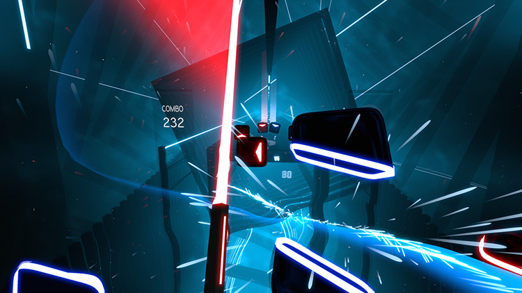 Beat Saber, A Musical VR Rhythm Game Where You Have to Slash