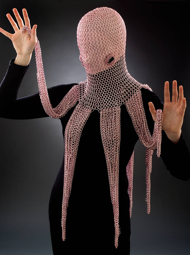 Chainmail Octopus Hood
