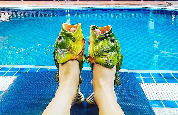 Coddies Fish Flops, Unique Casual Summer Footwear In the Shape of Open Mouthed Cod