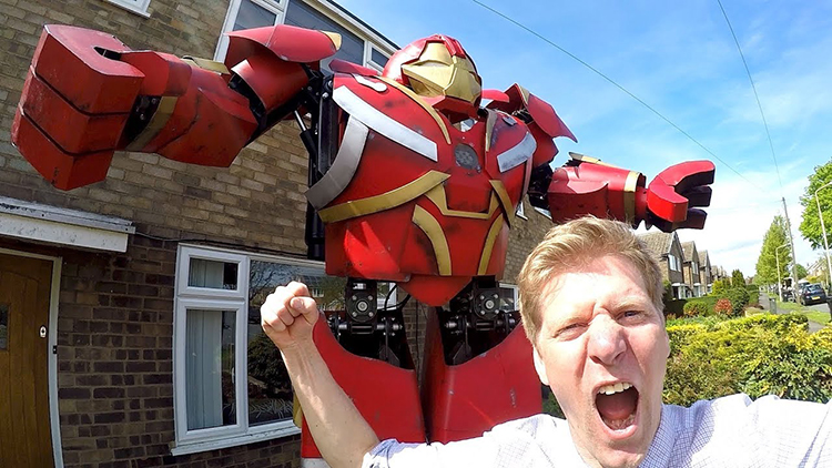 Colin Furze and James Bruton Build a Life-Sized Set of Hulkbuster Armor