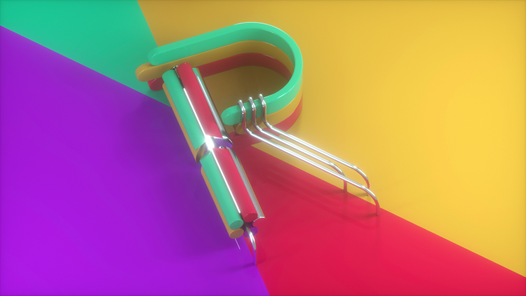 Colorfully Mesmerizing 3D Animated Type in the Form of a Variety of Objects Grooving to Music