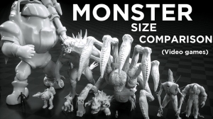 Comparing the Sizes of Monsters in Video Games