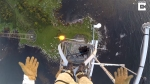 Daredevil Climbs 140 Mast With Birds Eye View