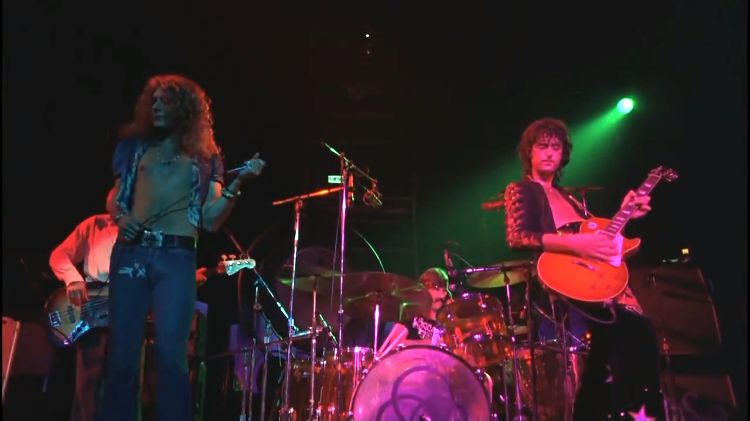 Incredible Remastered Footage of Led Zeppelin Performing of 'Dazed and Confused' Live in 1973