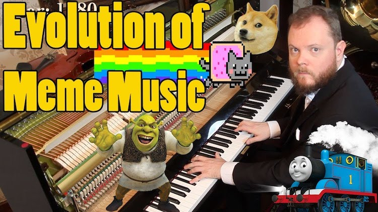 An Amazing Piano Arrangement of the Evolution of Meme Music From 1500 AD Through Present Day