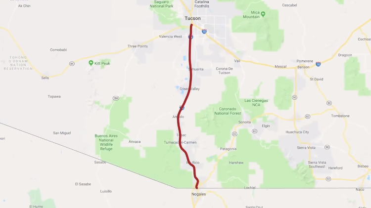 Why a Single Stretch of Highway 19 in Arizona Is Marked in Kilometers Rather Than Miles