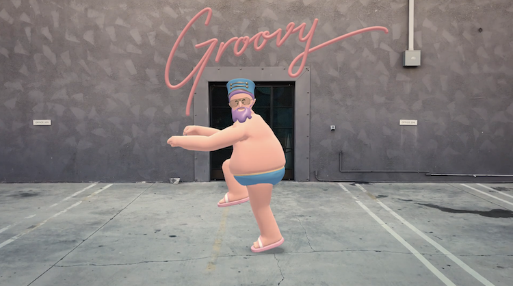 HotStepper, An Augmented Reality Wayfinding App Featuring a Fun Dancing Character