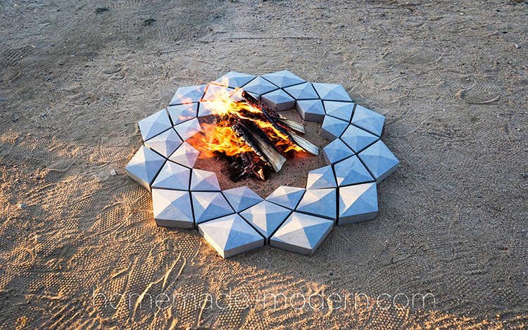 How to Make a Concrete Fire Pit Using Silicone Molds of 3D Printed Blocks