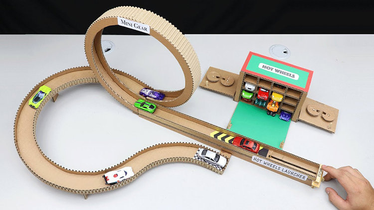 How to Make a Cardboard Hot Wheels Launcher