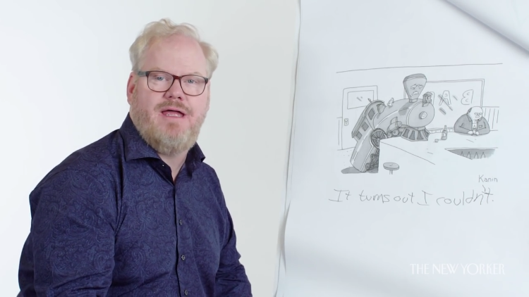 Jim Gaffigan Brings His Unique Sense of Humor to The New Yorker Cartoon Caption Contest