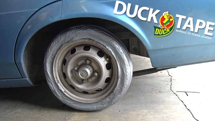 Making a Functioning Spare Tire Out of Duct Tape
