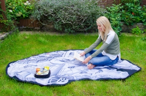 Millennium Falcon and TIE Fighter Picnic Blankets