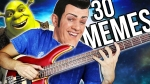 Musician Performs 30 Music Memes on a Bass Guitar in 2 Minutes