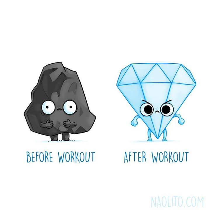 Relatable Illustrations of Cute Characters in Hilarious Before and After Situations