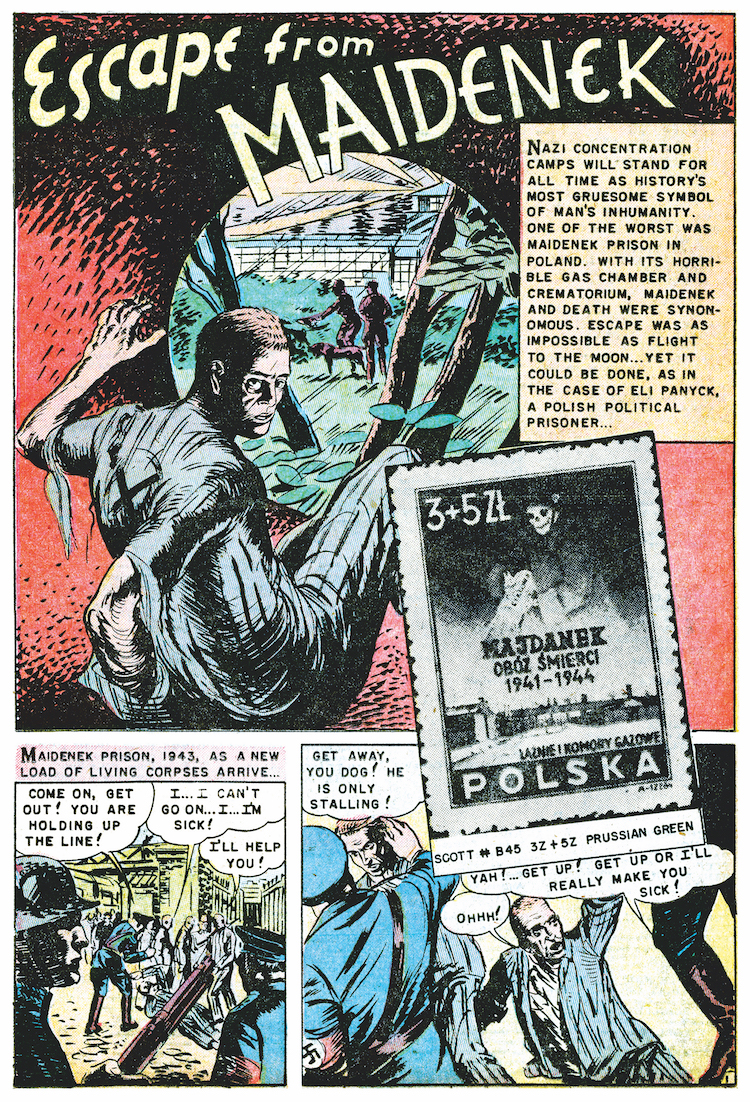 stamps comics #4 apr 1952 escape from maidenek 1