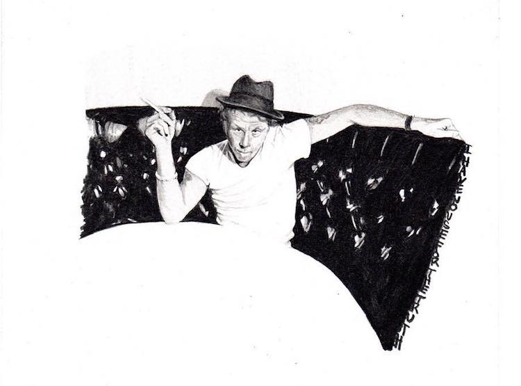 Tom Waits Tuesdays, Denver Artist Draws Uniquely Detailed Portraits of the Artist on a Weekly Basis
