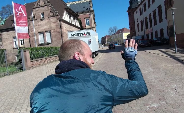 Man Films One Second of Himself Every Day as He Bikes Across All 16 German States in 80 days