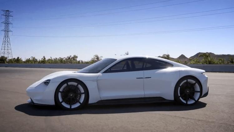 Adam Levine Test Drives the All-Electric Porsche Mission E Concept Car